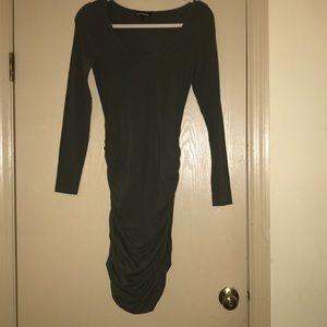 Express Olive Midi Dress Size Small